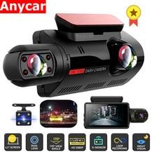 Kamera samochodowa FHD kamera na deskę rozdzielczą podwójny rekord ukryty wideorejestrator kamera na deskę rozdzielczą era 1080P noktowizor monitorowanie parkowania g-sensor DashCam