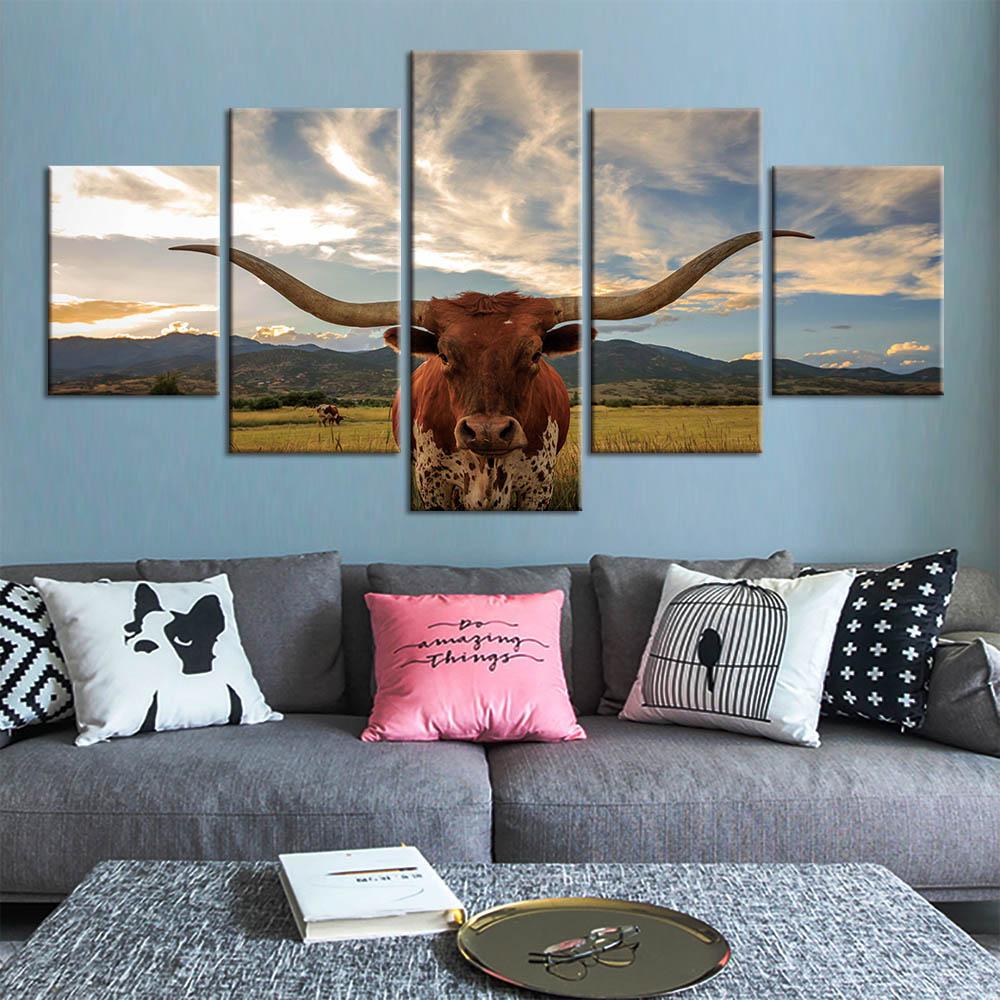 Longhorn Art Print Home Decor Wall Art Poster