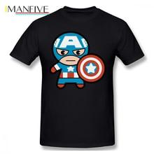 Captain America T Shirt Kawaii With Shield T-Shirt Classic Awesome Tee Big Printed Tshirt