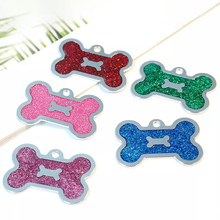 Tag Pet-Accessorie Engraved Pendant Dog-Tag Puppy Name-Collar Paw Glitter Cat Personalized