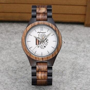 Shifenmei Men Watches Luxury Brand Wood Watch Men Quartz Wooden Wristwatches Male Clock Sports Watch for Man Relogio Masculino