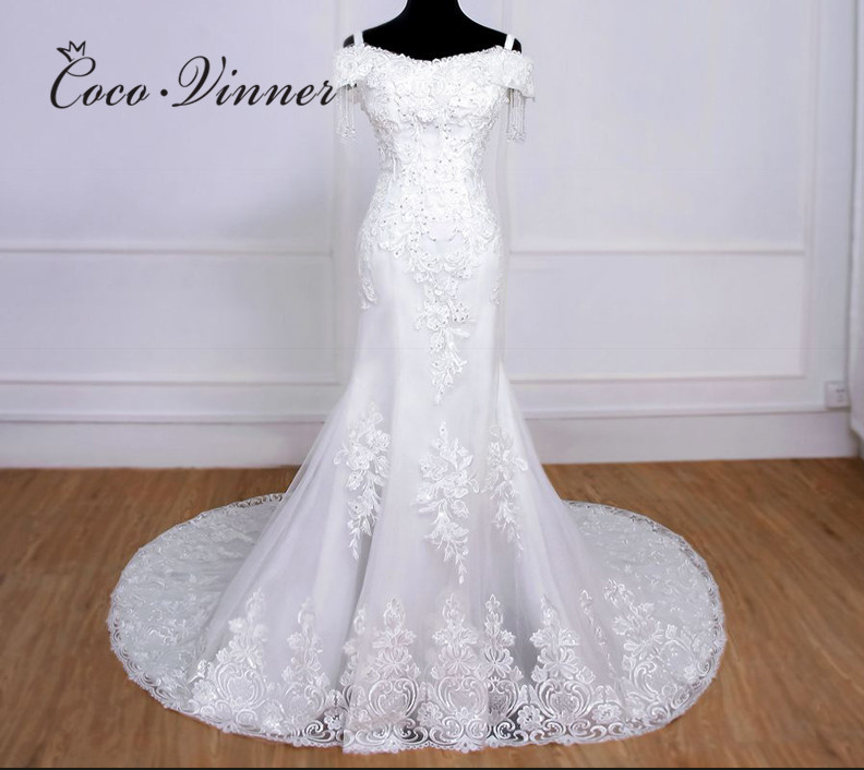 Cap Sleeve Beaufiful Embroidery Beading Mermaid Wedding Dresses 2020 New Elegant  Lace Wedding Gown Bride Dress WX0078