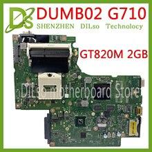 KEFU DUMB02 материнская плата REV: 2,1 Для lenovo G710 Материнская плата ноутбука G710 материнская плата чип видеокарты GT820M 2G тестовая работа