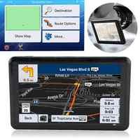 Dispositivo de navegación GPS para coche, dispositivo con carga USB, Transmisor FM, pantalla táctil, 5 pulgadas, cargador de coche cómodo, Windows CE 6,0