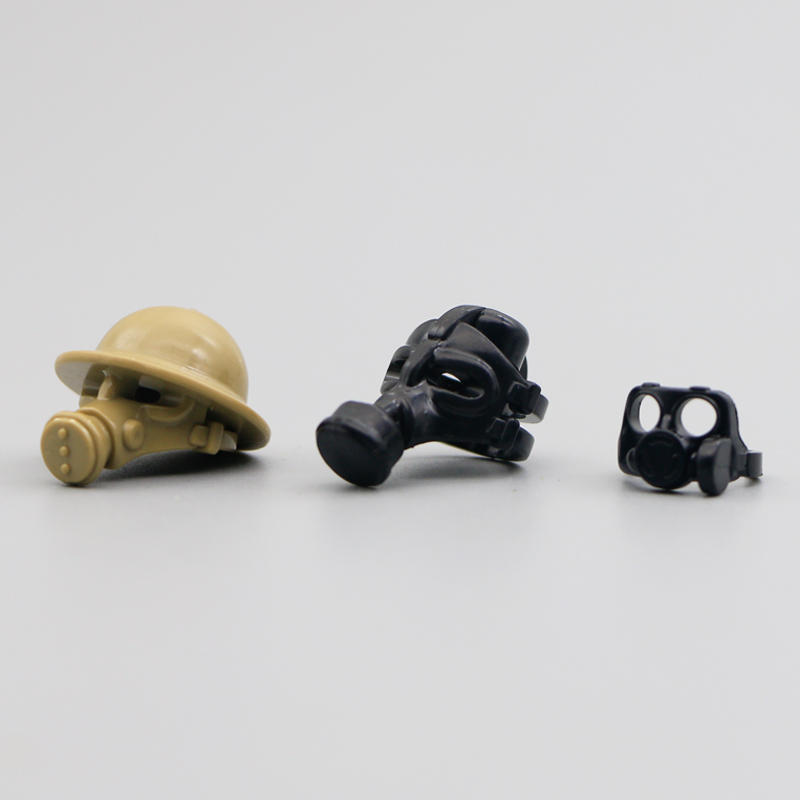 LegoINGly Military Gas Mask WW2 Soldier Building Blocks Police SWAT Army Shield Weapon British Helmet Toys Bricks Accessory Pack