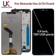 LCD عرض ل موتورولا موتو واحد XT1941 1 XT1941 3 XT1941 4 LCD عرض محول الأرقام شاشة كاملة الجمعية لموتورولا واحد LCD
