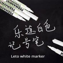 1 PC marqueur stylo huileux étanche en plastique Gel stylo pour écrire dessin blanc Album de bricolage Graffiti stylo papeterie journal pour cahier