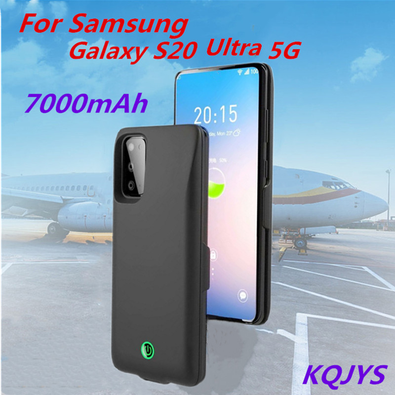 KQJYS 7000mAh The New UIltra-Thin External Battery Mobile Power Cover For  Samsung Galaxy S20 Ultra 5G Power Box