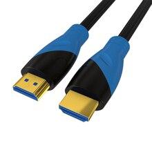 Yüksek hızlı HDMI kablosu 0.5m 1m 1.5m 1.8m 2m 3m 5m video kabloları 1.4 1080P 3D altın kaplama kablo için HDTV XBOX PS3