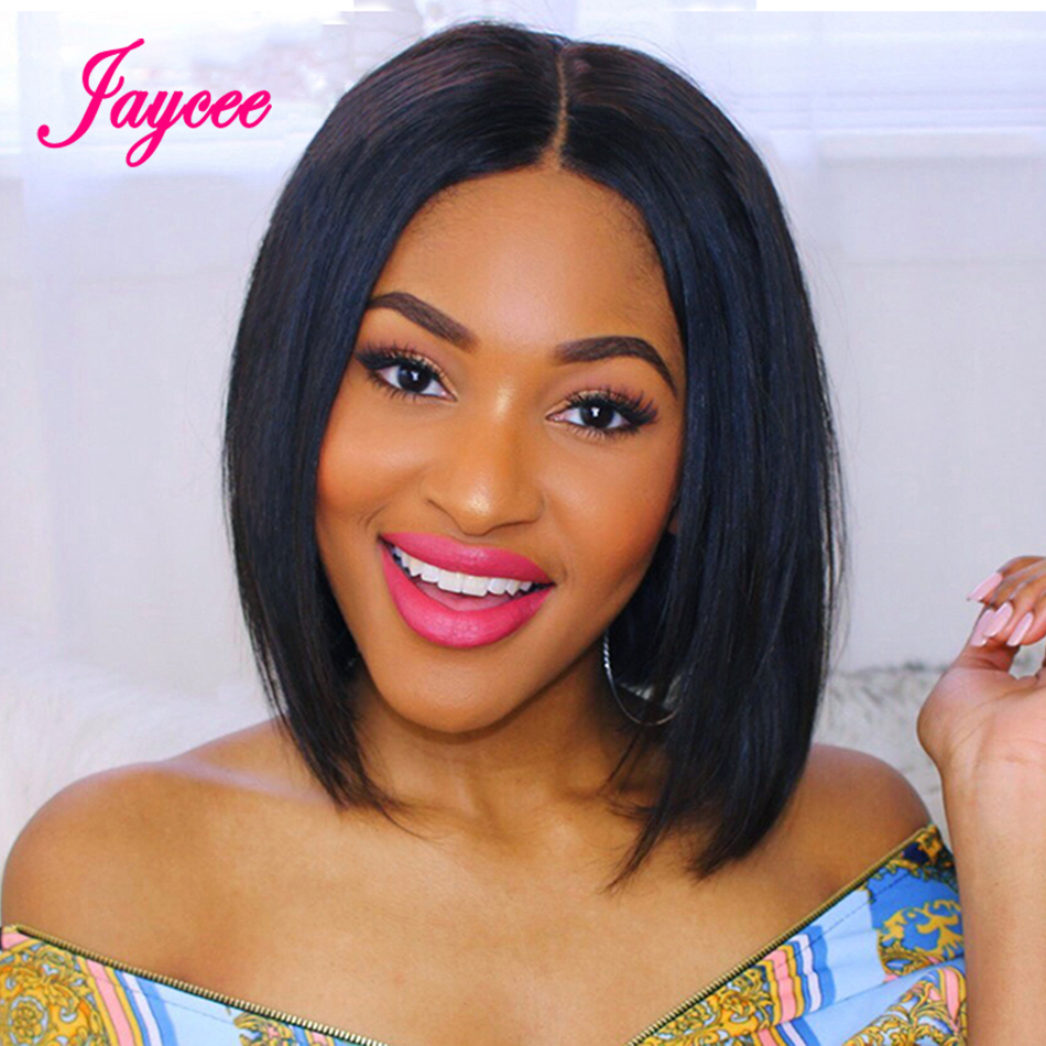 4x4 Short Bob Wigs Lace Front Human Hair Wig For Black Women Pre Plucked Hairline With Baby Hairs Brazilian Remy Hair 150%