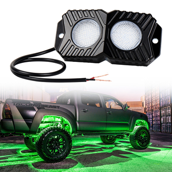 Led 18W  under car Light Atmosphere lights For Off-road Vehicle ATV SUV Truck Tractor Boat 2 pcs