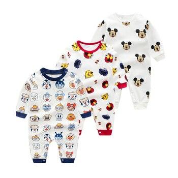 Комбинезоны для новорожденных мальчиков на весну и осень, 100% хлопок, комбинезоны с длинными рукавами и принтом «Супермен», Одежда для новорожденных
