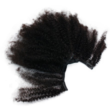 Eseewigs 4B 4C Afro Kinky Curly Clip Ins Human Hair Extensions Natural Clipin Full Head 7 Pcs 120G 16 Clips Mongolian Remy Hair eseewigs afro kinky curly human hair ponytail for women natural color remy hair 1 piece clip in drawstring 4b 4c ponytails
