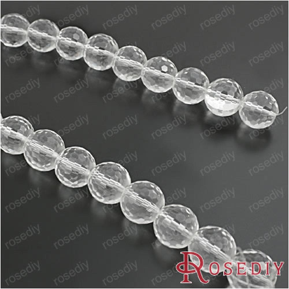 Диаметр 14 мм прозрачные белые круглые стеклянные бусины Сделай Сам ювелирные изделия фурнитура Аксессуары веревка шероховатые 25 шт(JM6833