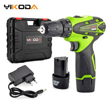 Power-Tools Cordless-Drill Electric-Screwdriver Multi-Function Lithium-Battery YIKODA