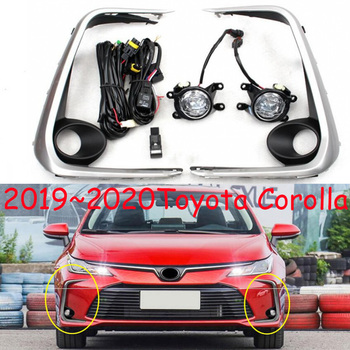 2019 2020year car bumper headlamp for Toyota Corolla daytime light altis car accessories LED DRL headlight for Corolla fog light
