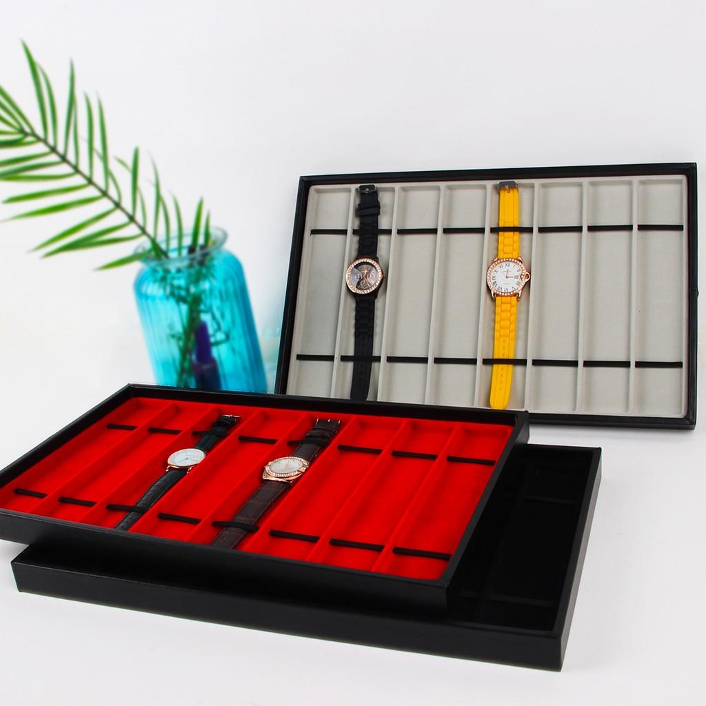 Necklace Bracelet Watch Band Jewelry Display Organizer Tray Holder Watch Holder Jewelry Storage Box
