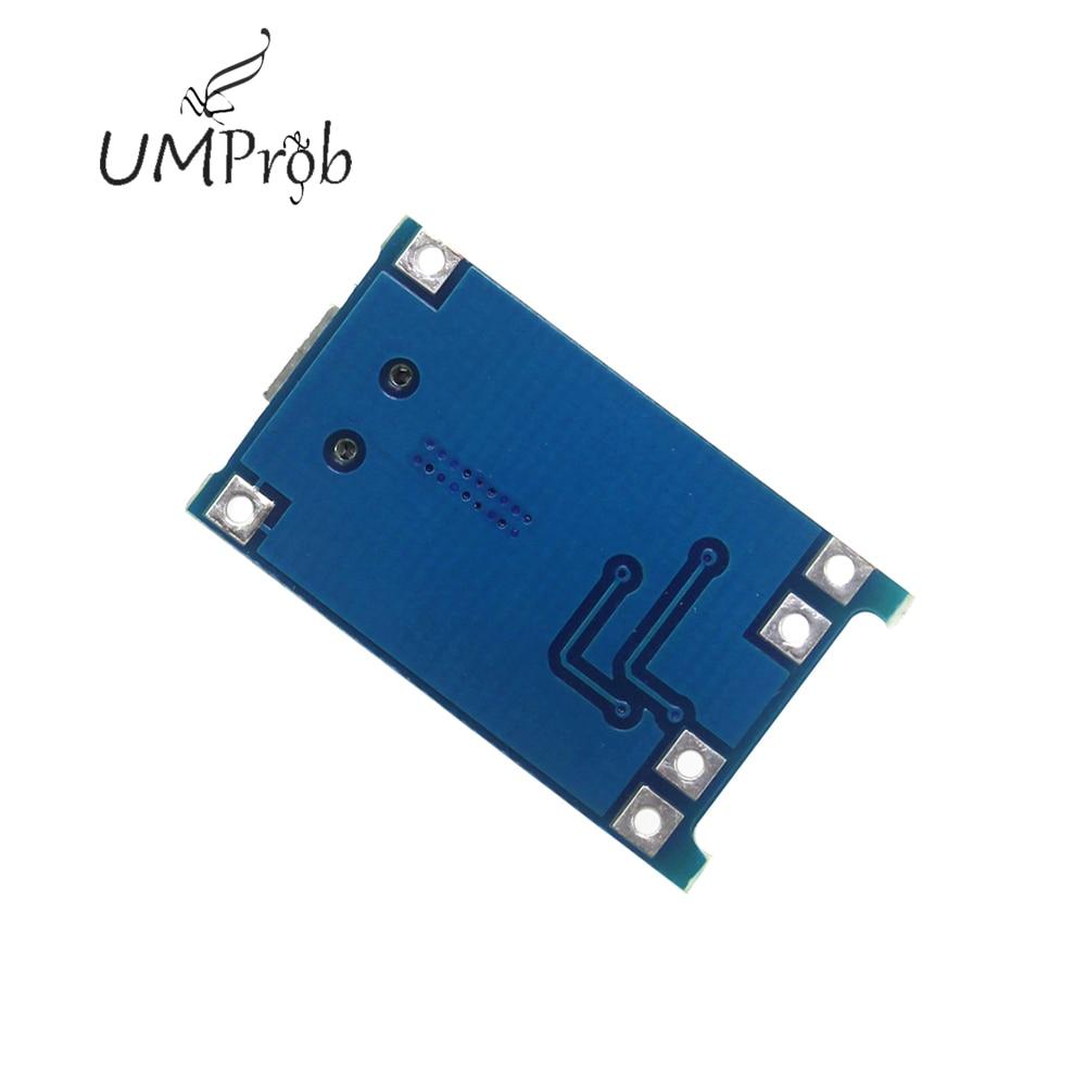 5V 1A Micro USB 18650 Batteria Al Litio di Carico del Caricatore Consiglio Modulo + Protezione Dual Funzioni TP4056