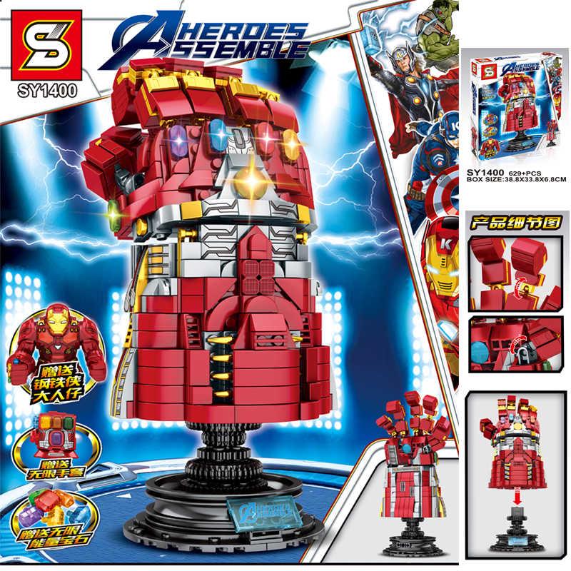 Building Block Super Heroes Mattoni Arma Mjolnir Stormbreaker Infinity Gauntlet Figure Per I Giocattoli Per Bambini compatibile Legoinglys