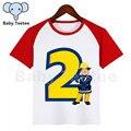 Детская одежда с рисунками из мультфильма «Пожарный Сэм» для дня рождения Футболка модная детская одежда для девочек, футболки для девочек,...