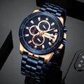 CURREN Бизнес Мужской роскошный бренд часов нержавеющая сталь наручные часы хронограф армейские военные кварцевые часы Relogio Masculino
