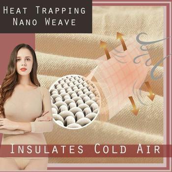 Mujer Unisex elástica sin costuras ropa interior térmica contra el invierno frío debe Sexy Delgado a prueba de frío caliente señora Bottoming juego térmico
