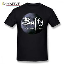 Buffy T Shirt Letter Print Buffy T-Shirt Men Summer Tee Shirt Plus size Cotton Awesome Short-Sleeve Printed Tshirt баффи санти мари buffy sainte marie many a mile