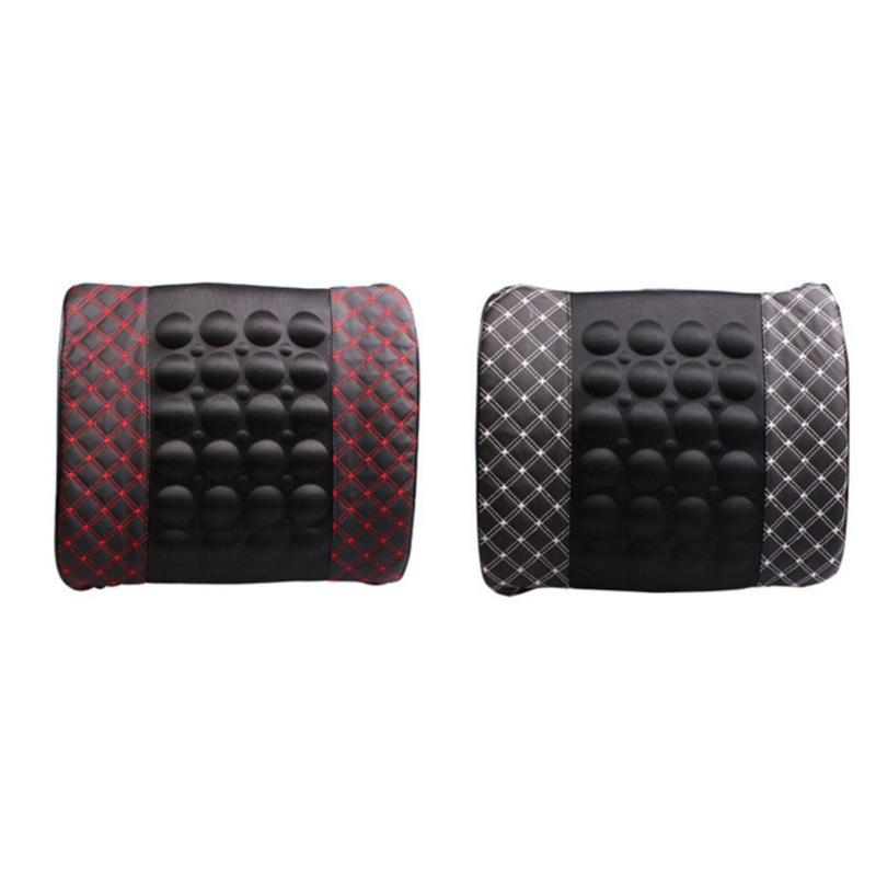Buy Universal Car Electric Vibration Car Massager Waist Pillow Seat Back Lumbar Support Cushion Auto Accessories for only 14.24 USD