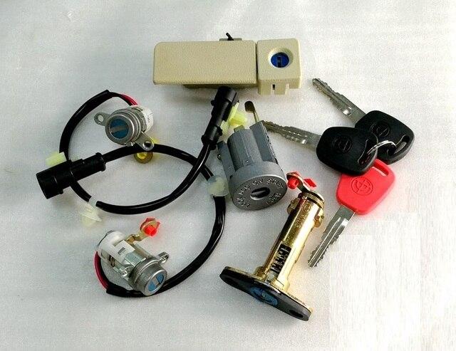 1 kit de cylindre de serrure avec clé pour pièces de moteur de voiture automatique chinois GEELY PANDA GX2