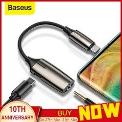 Adaptador de audio auxiliar Baseus L60 USB C a 3,5mm Cable de extensión usb tipo c con interfaz de Luz 1 a 2 para Smartphone
