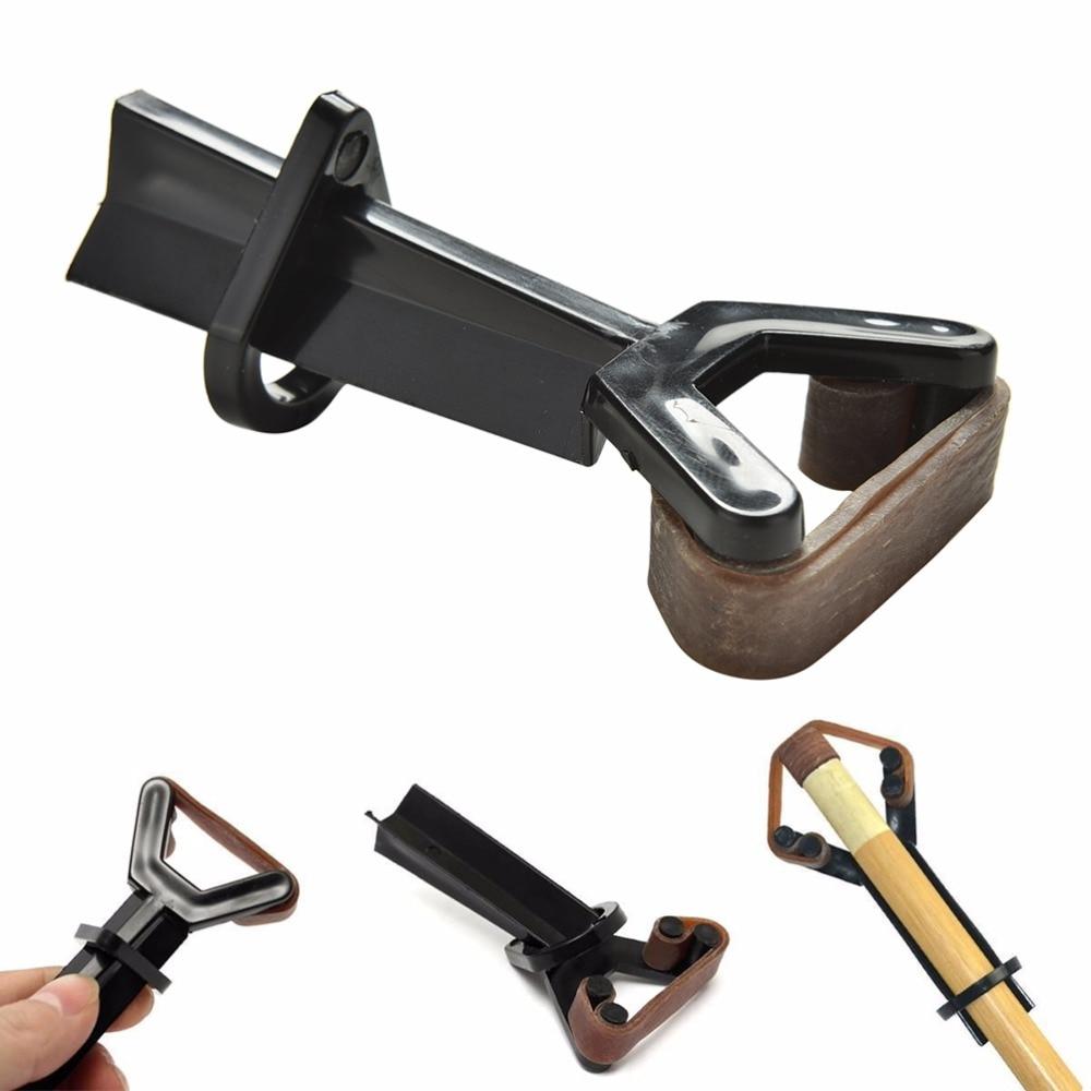 Billiard Pool Cue Tip Clamp Plastic Y-shaped Glue On Fastener Repair Tool Billiard Rod Tool Accessory Dropping Ship