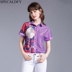 Новинка 2020, модная женская Повседневная рубашка с коротким рукавом, летние дизайнерские топы для подиума, уличная винтажная блузка Blusa Feminina