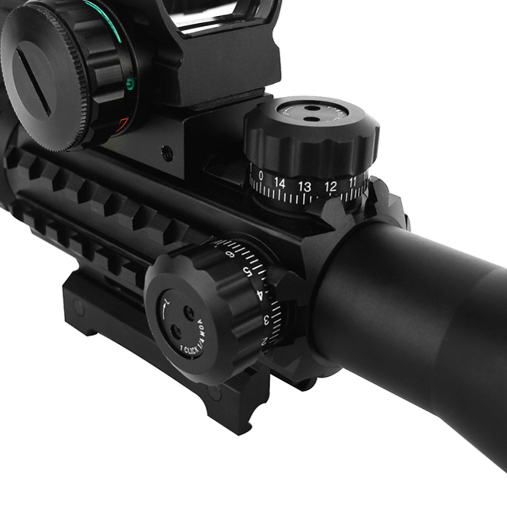 Outdoor Hunting Airsofts Riflescope 4-12X50EG Tactic Air Red Dot Lasers Sight Hunting Scope Holographic Hunting Optics