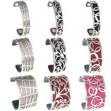 Legenstar Flower Interchangeable Cuff Bracelet Manchette Femme Large Stainless Steel love Bracelets Bangles For Women Jewelry