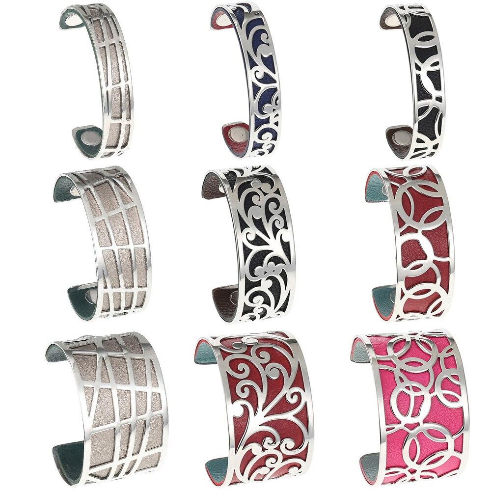 Pulseiras para as Mulheres de Jóias Legenstar Flor Intercambiáveis Cuff Bracelet Manchette Femme Grande Aço Inoxidável Amor Pulseiras
