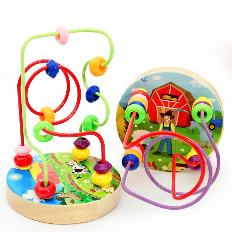 Mini Beaded Bracelet Building Blocks Children Early Childhood Educational Toy Wholesale Manufacturers Direct Selling Wooden Mini