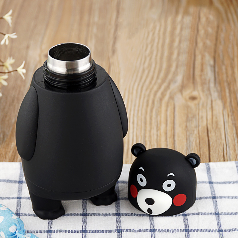 Image 4 - 280ml Cartoon Kumamon Bear Vacuum Cup Stainless Steel Thermo Mug Insulated Vacuum Flasks Thermoses Travel Drink Water Bottle-in Vacuum Flasks & Thermoses from Home & Garden on AliExpress