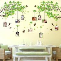 Bosque de recuerdos foto del árbol adhesivos para marcos de pared habitación dormitorio casa decoración arte Mural calcomanías pájaro etiqueta engomada de papel