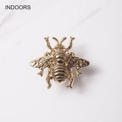 Оригинальный в соответствии с американским Стиль Медь шкаф ящик обувного шкафа двери шкафа Европейский-Стиль пчела, нанесенное осаждением ...