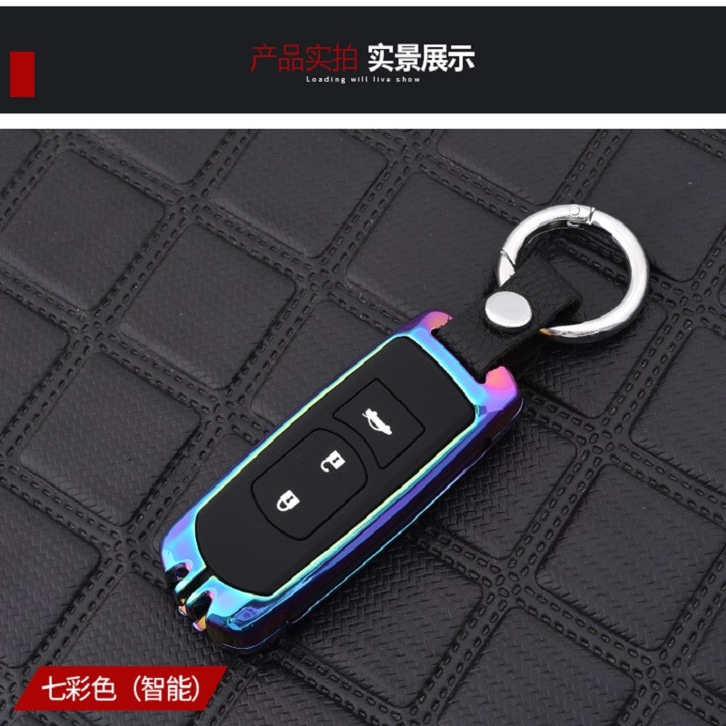 New Zinc alloy+silicone car key case Full cover For <font><b>Mazda</b></font> 2 3 6 Axela Atenza <font><b>CX</b></font>-<font><b>5</b></font> CX5 <font><b>CX</b></font>-7 <font><b>CX</b></font>-9 <font><b>2014</b></font> 2015 2016 2017 2/3 Buttons image