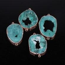 Pendentif en pierre naturelle de cristal de forme irrégulière, accessoires de bricolage pour collier ou fabrication de bijoux, taille 45x30x6mm -60x30x6mm