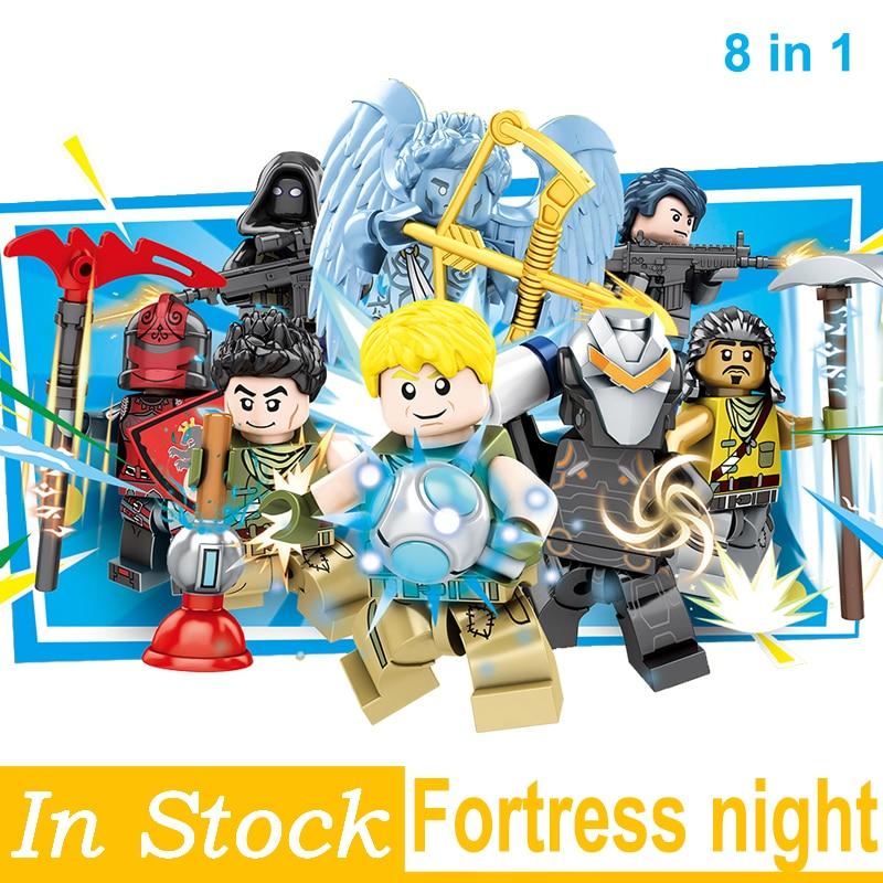 Fortress Night Building Blocks bricks Educational Toys Model Children Gifts Mini Dolls Christmas Kids