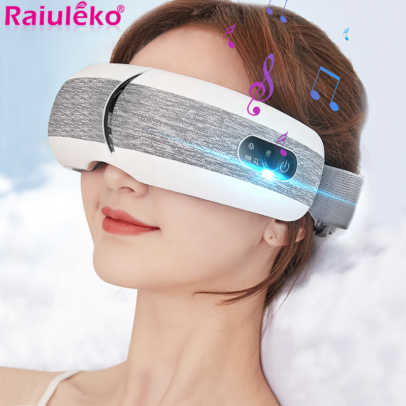 Eye Massager Eye Mask Music Magnetic Air Pressure Bluetooth Heating Vibration Massage Relax Glasses Electric DC Eyes Care Device