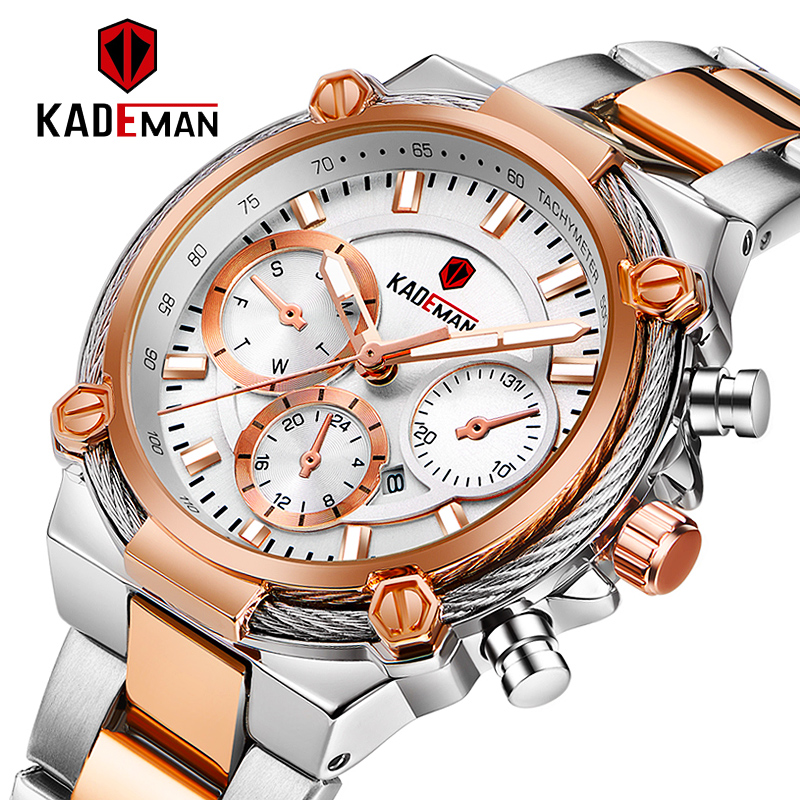 KADEMAN Luxury Fashion Women Watches Waterproof Casual Quartz Ladys Watch For Woman Dress Ladies Wristwatches Relogio Feminino
