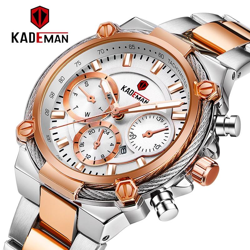 KADEMAN Luxury Fashion Women Watches Waterproof Casual Quartz Ladys Watch For Woman Dress Ladies Wristwatches Relogio Feminino