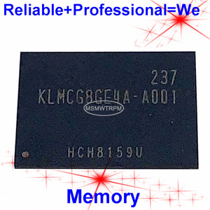 Image 1 - KLMCG8GE4A A001 BGA169Ball EMMC 64GB cep telefonu bellek yeni orijinal ve ikinci el lehimli topları test tamam