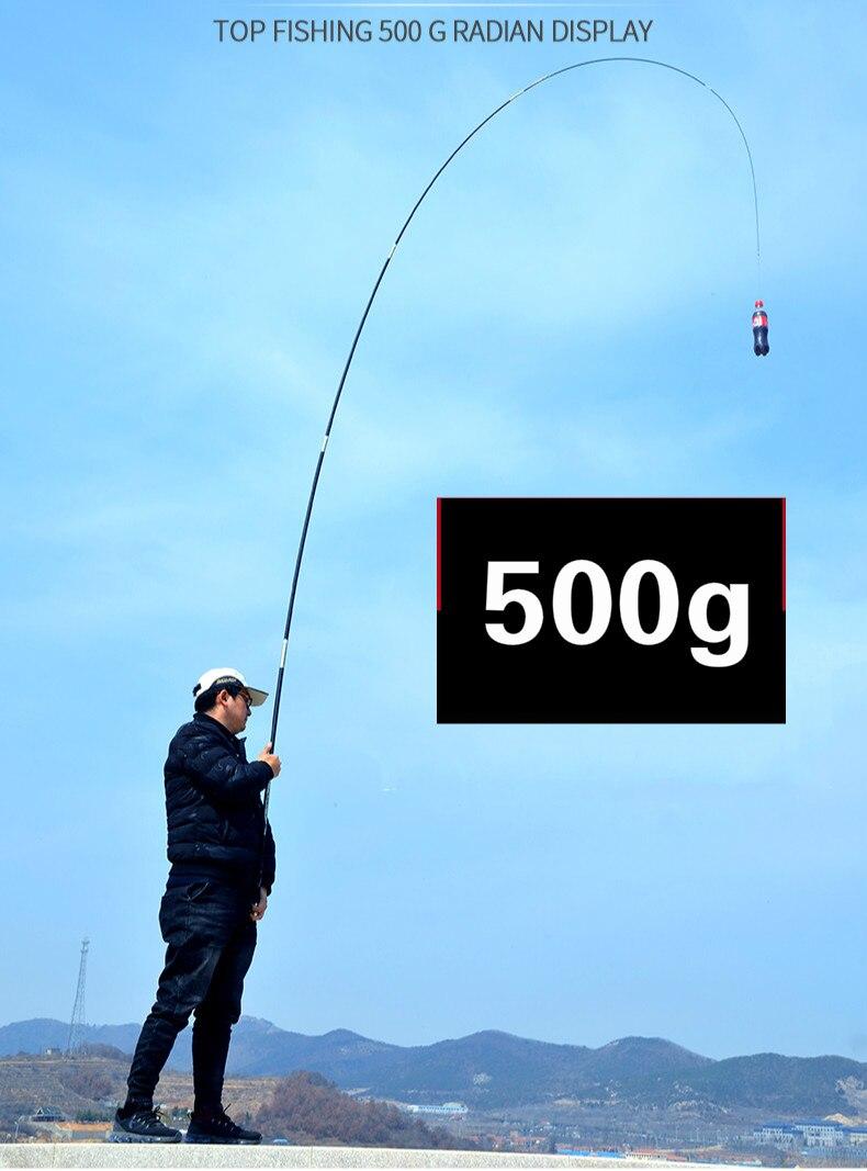 vara de pesca longa seção mão olta 3.6 m-7.2 m vara pesca