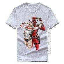 Camiseta de algodão dos homens de alta qualidade da forma dos desenhos animados dos homens