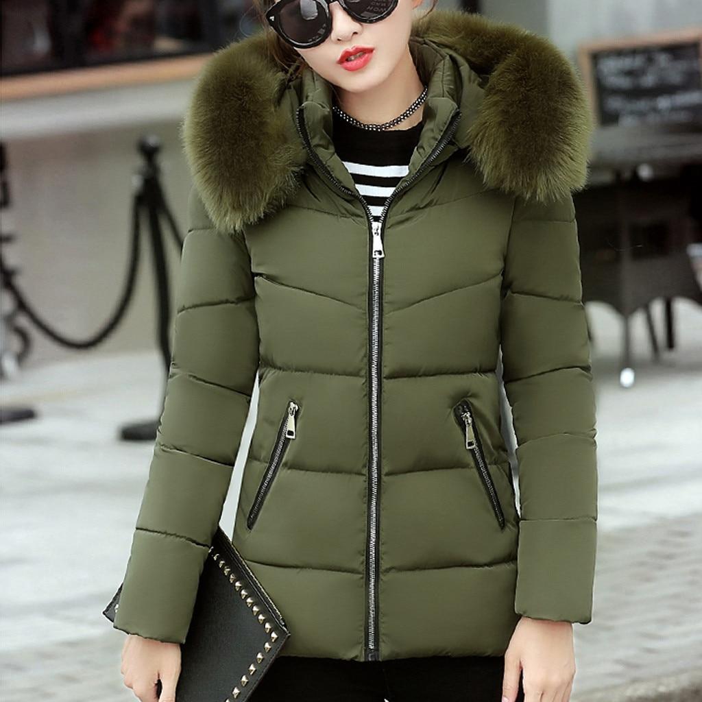 winter jacket women Snow Wear wadded jacket female 2019 autumn winter jackets women cotton padded outerwear winter coat #1016 on AliExpress