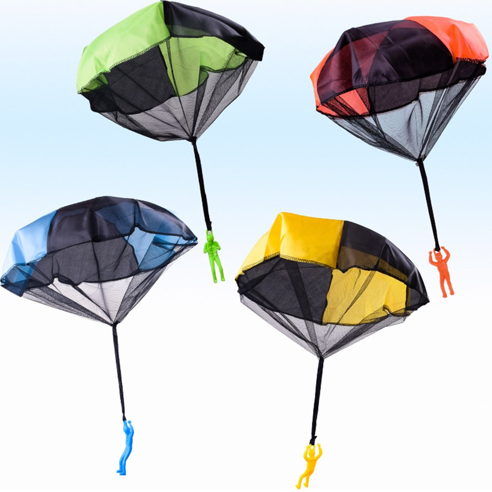 Durable Safe Parachute Kids Hand Throw Parachute Toy Toss It Up And Watch Landing Assorted Colors